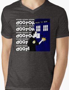 Knock Knock Knock Doctor Mens V-Neck T-Shirt