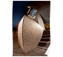 Chris Newell // Frontside Nosegrind // Boston '12 Poster