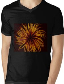 Orange Clematis Abstract Mens V-Neck T-Shirt