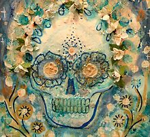 Pastel Sugar Flower Scull by JulianaLachance