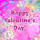 Happy Valentines Day grunge hearts greeting card and poster by Marianne Campolongo