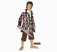 Martin Freeman in The Hobbit Typography Design by GrantP93