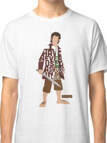 Martin Freeman in The Hobbit Typography Design Classic T-Shirt