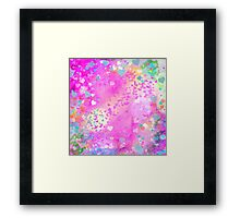 Grunge hearts abstract art I Framed Print