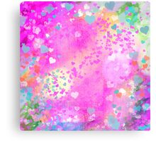 Grunge hearts abstract art I Canvas Print