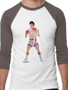 Rocky Balboa From Rocky Typography Quote Design Men's Baseball ¾ T-Shirt