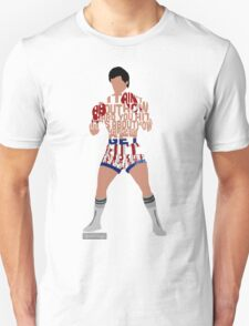Rocky Balboa From Rocky Typography Quote Design T-Shirt