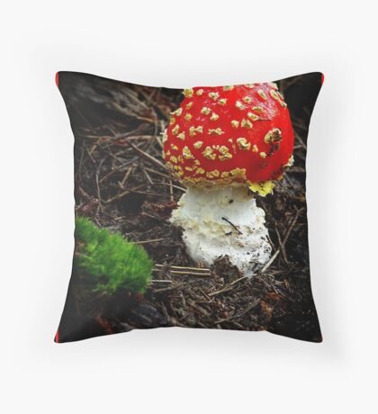 """Red Cap"". Throw Pillow"