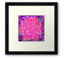Grunge hearts abstract art II Framed Print