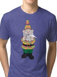 Mr Gnome and Dino Jr. Tri-blend T-Shirt