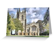 Canons Ashby Priory 1250AD Greeting Card