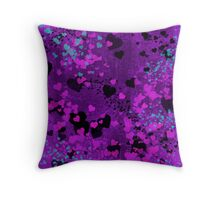 Purple Hearts Throw Pillow