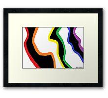First Close-up of a Rainbow Zebra Framed Print