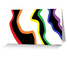 First Close-up of a Rainbow Zebra Greeting Card