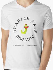 Charlie Eats Organic Mens V-Neck T-Shirt