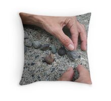 """Hands at Work"" Throw Pillow"
