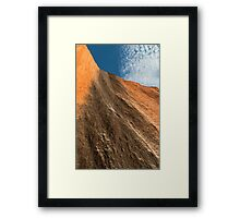 Uluru up close - A study in texture and contrast Framed Print