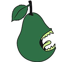 Funny Evil Monster Pear by Style-O-Mat