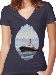 Tugboat Women's Fitted V-Neck T-Shirt