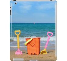 beach with toys summer scene iPad Case/Skin