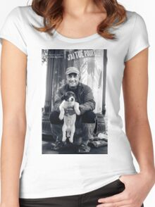 The vagabond and the puppet dog Women's Fitted Scoop T-Shirt