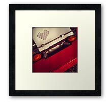 Send a LOVE letter...Retro style Framed Print