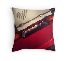Send a LOVE letter...Retro style Throw Pillow