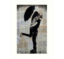 rainy day love Art Print