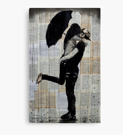 rainy day love Canvas Print