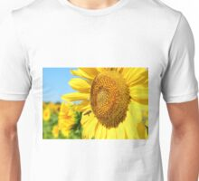 summer scene with bee and sunflower  Unisex T-Shirt