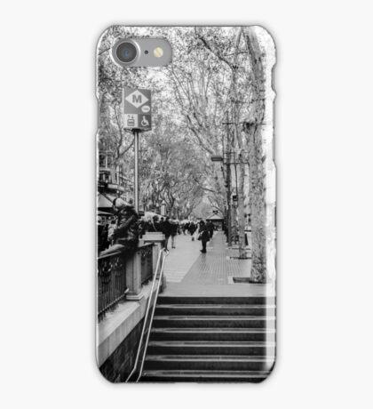 Streets of Barcelona - La rambla  iPhone Case/Skin