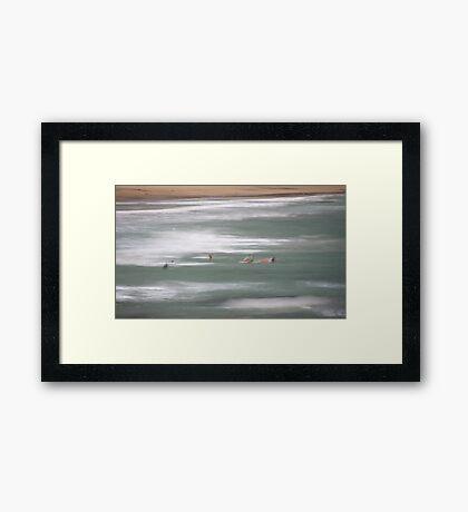 Saltwater. Framed Print