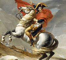 Napoleon Crossing the Alps by Jacques Louis David by TilenHrovatic