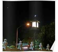 Lantern and the Crescent Moon Poster