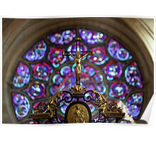Laon Cathedral, stained glass Poster