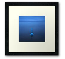 Blue watering can Framed Print