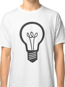 Simple Light Bulb Classic T-Shirt