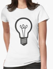 Simple Light Bulb Womens Fitted T-Shirt