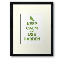 Keep Calm and Use Harden(Metapod) Framed Print