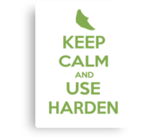 Keep Calm and Use Harden(Metapod) Canvas Print