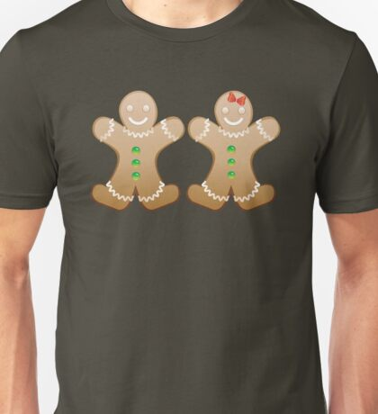 Smiling Gingerbread Cookies Unisex T-Shirt