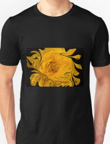 Yellow Wildflower Abstract T-Shirt