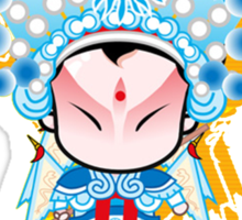The quintessence of Beijing Opera Peking Opera  Sticker