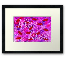 KISS KISS Framed Print