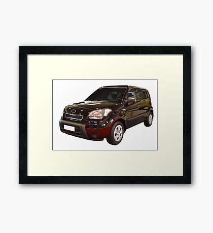new black 4x4 suv isolated Framed Print