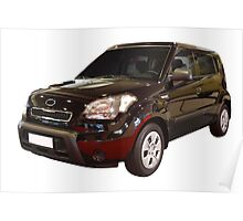 new black 4x4 suv isolated Poster