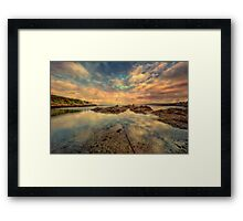 Sheltered Bay Framed Print
