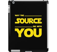 May The Source Be With You - Stars Wars Parody for Programmers iPad Case/Skin