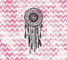 Pink Chevron Dreamcatcher by PatiDesigns