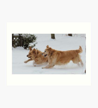 Yahoo! Snow IS FUN! Ozzy & Lotus Art Print